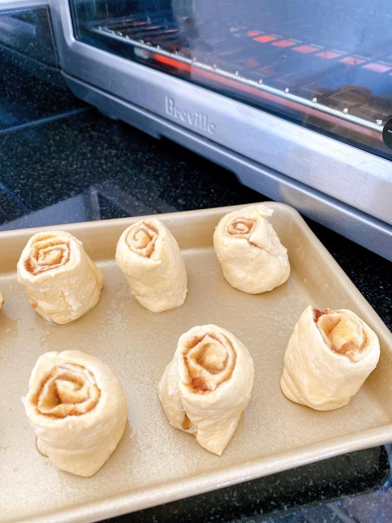 crescent roll cinnamon roll Breville oven