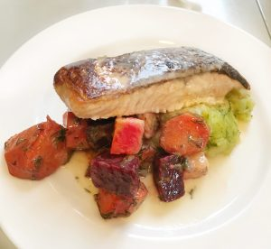 salmon and beets