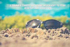 summer drinks white font
