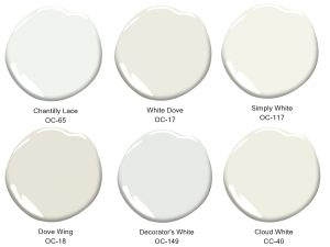 six shades of white paint