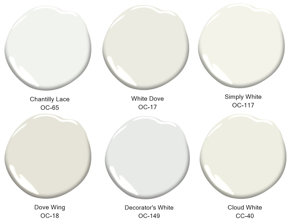 six shades of white paint home remodel