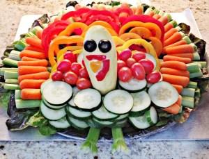 Vegetable Turkey Centerpiece