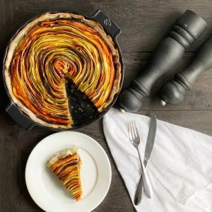 slice of spring vegetable tart