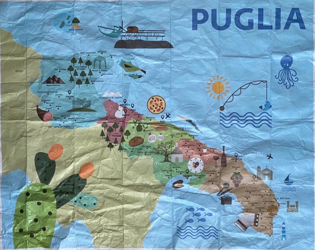 map of Puglia Italy