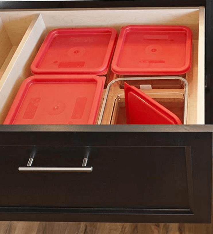 flour storage in drawer kitchen design ideas