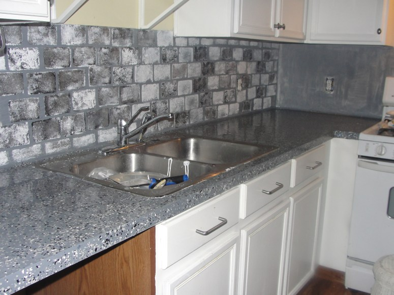 DIY Kitchen Updates in a Budget: You CAN Paint Laminate Countertops