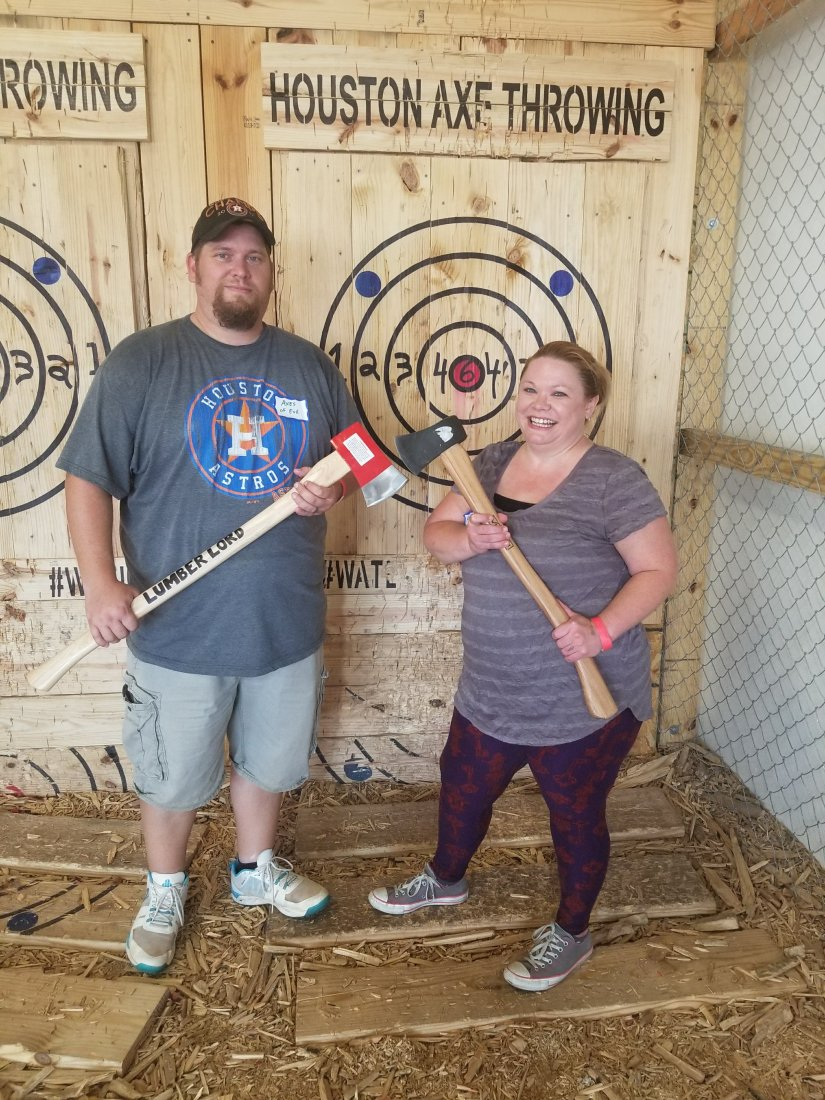 Houston Axe Throwing is Perfect For Celebrations and Dates- Houston Axe Throwing Review and Experience. What to expect at Axe Throwing.