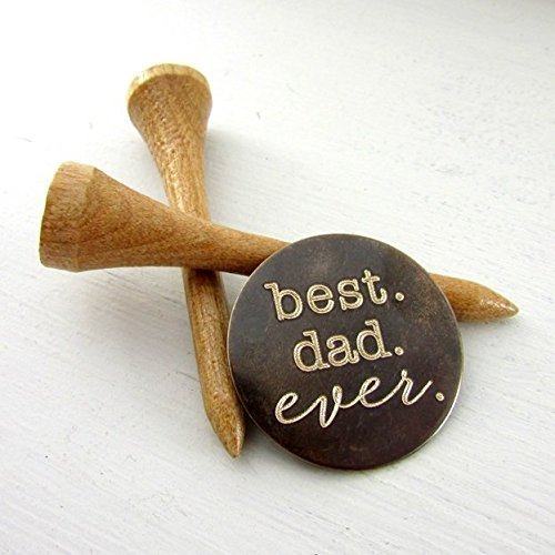 Best. Dad. Ever. Golf Ball Marker - Engraved Brass Father's Gift in Gift Tin