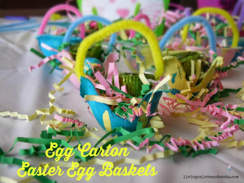 Easy Easter Craft For Kids: Egg Carton Easter Egg Baskets