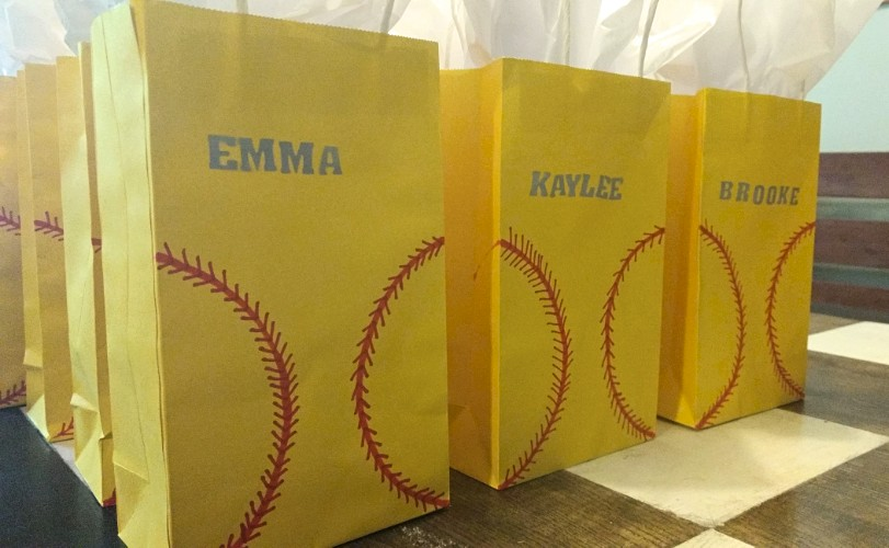 DIY Softball Treat Bags