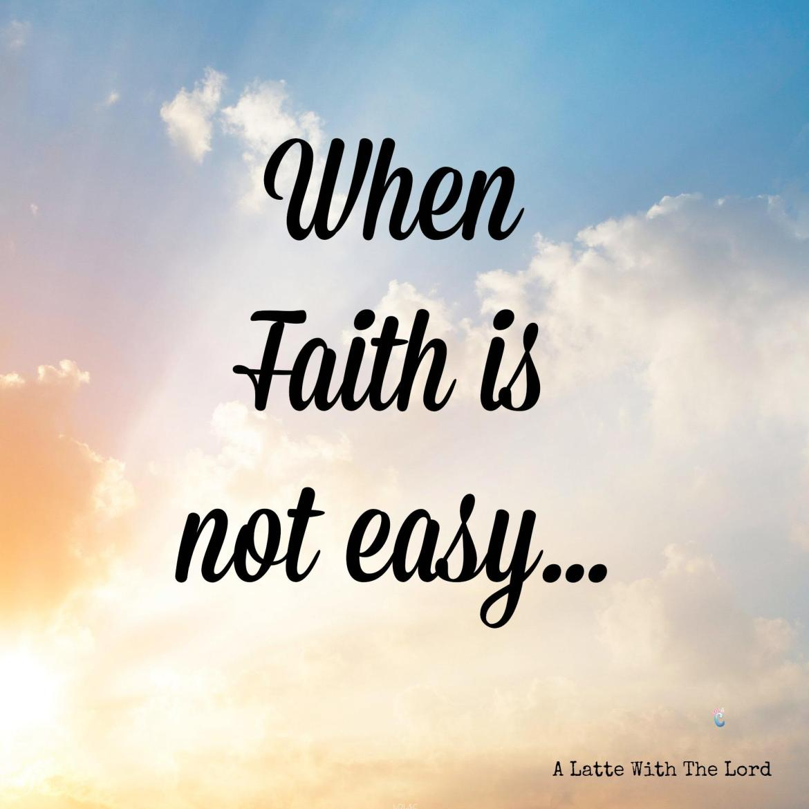 When faith is not easy, what do you do? There are so many lessons that come from this--having faith, obeying, trusting, obstacles, and more!