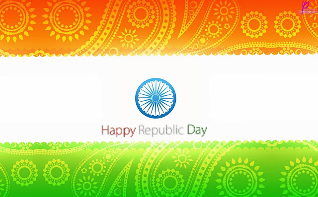 Happy Republic Day Flag Image