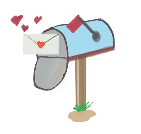 Mailbox with valentines