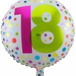 Folienballon Konfetti 18 Geburtstag Hier Horror Shop Com