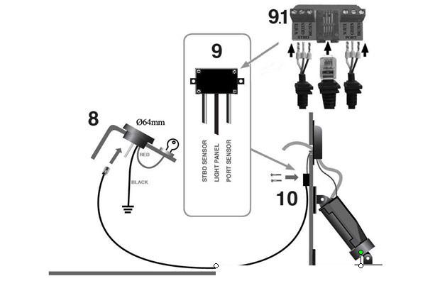 locator installation instructions insta trim boat levelers rh insta trim com Insta Trim Wiring Diagram Teleflex Trim Gauge Wiring Diagram