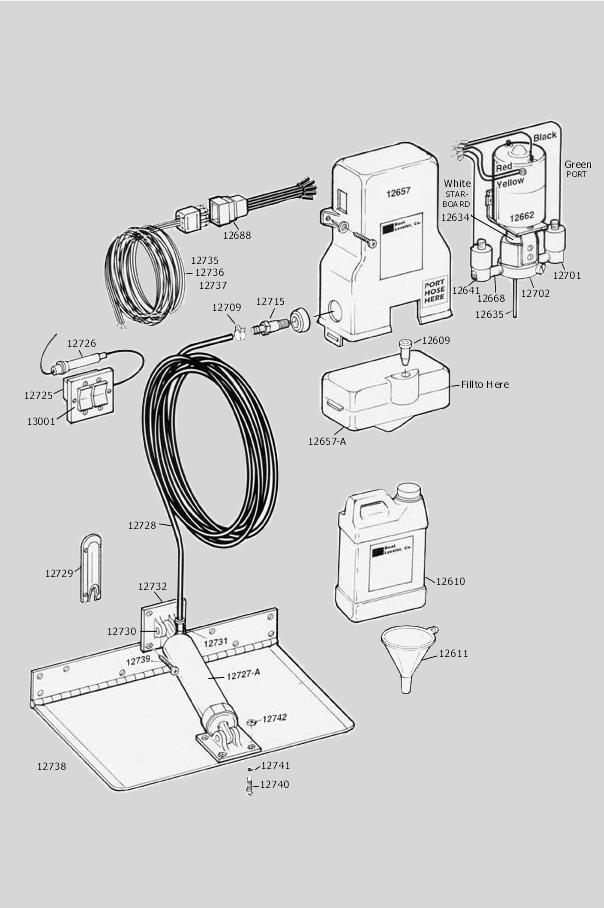 parts diagram insta trim boat levelers Boat Trim Switch Wiring Diagram 1 wiring harness