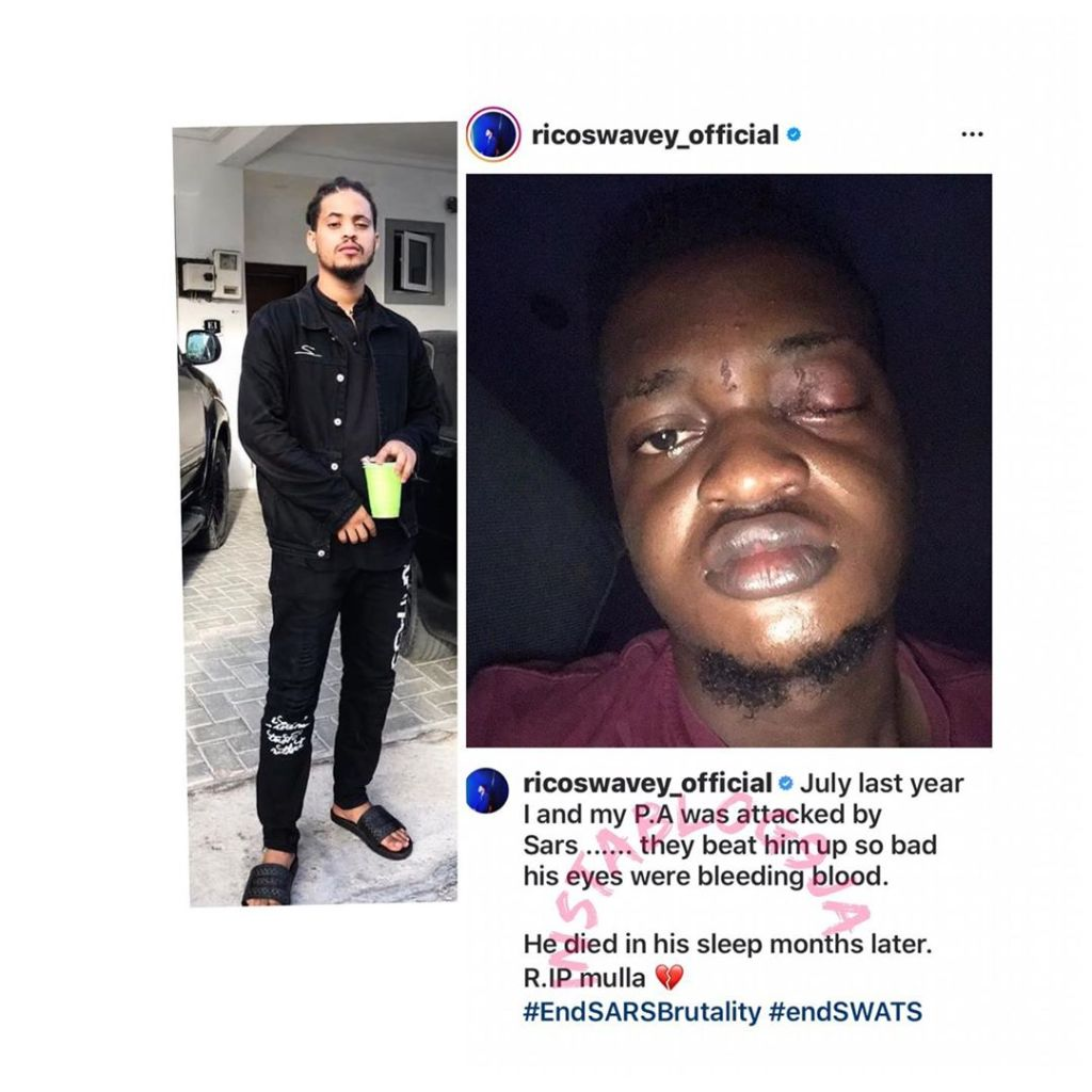 Reality Star, Rico recounts his experience in the hands of SARS operatives