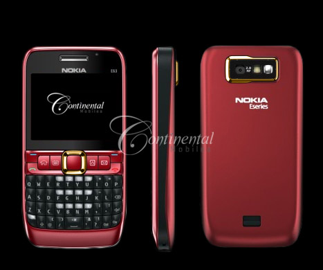 24k gold nokia e63 red luxury mobile phone 3VqRb 2