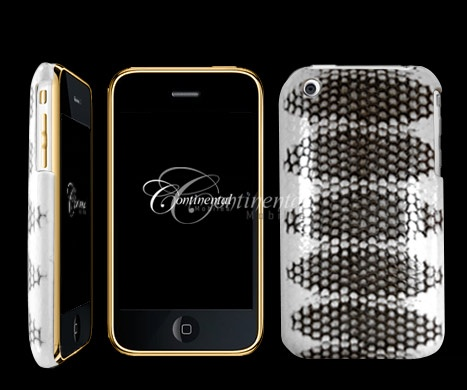 24k yellow gold white snakeskin apple 3gs iphone 3