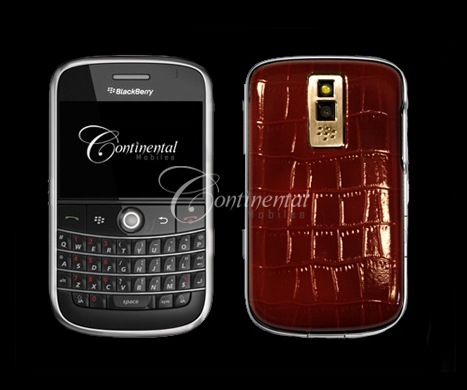 blackberry bold croco red leather 24k yellow gold