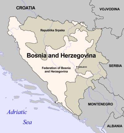 bosnia map kShKM 20441