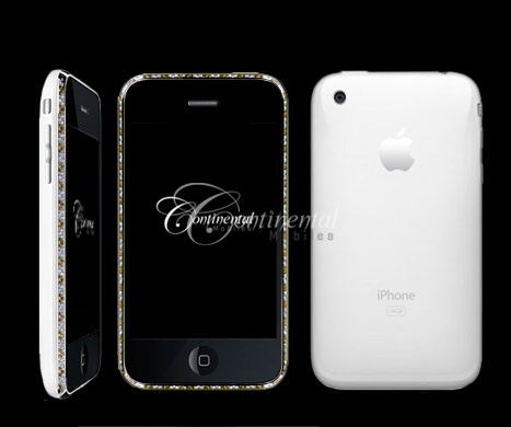 chocolate diamond apple 3g iphone 16gb white luxur