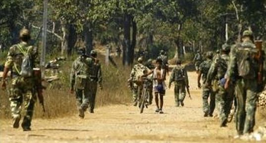 indian paramilitary troops patrol maoist infested