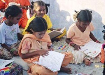 indian village children in school