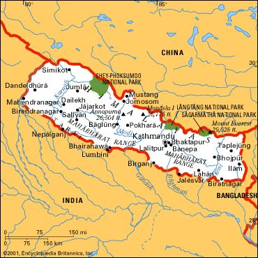 nepal map vRseA 3868