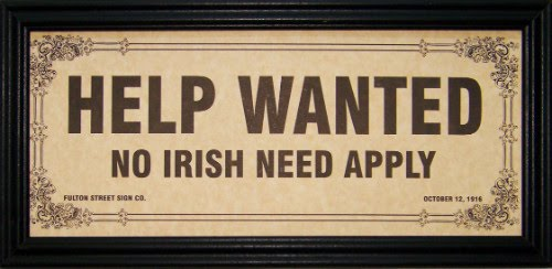 no irish need apply sign eCt7R 19672