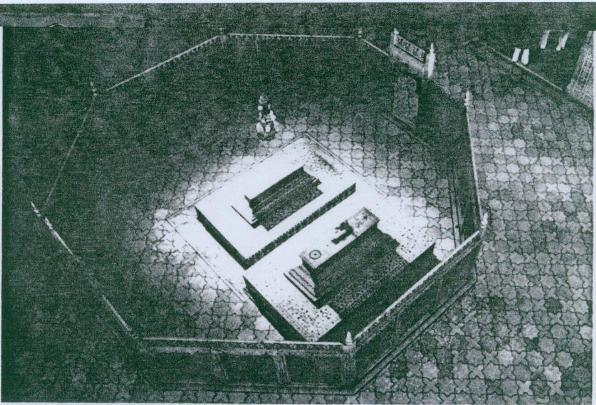 Octagonal cenotaph