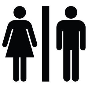 restroom man woman TGVEZ 16298