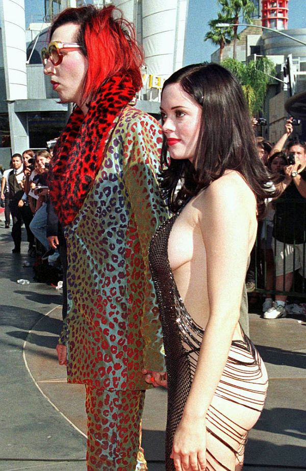 Rose McGowan in a dare-bare look
