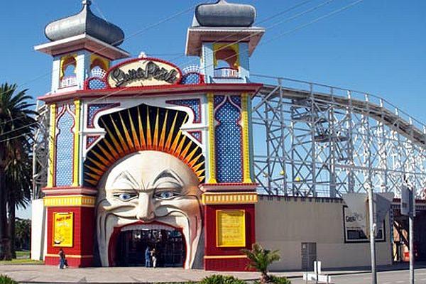 Entrance Gate to Luna Park, St Kilda, Melbourne, Victoria, Australia