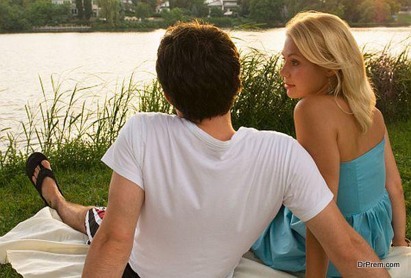 enjoying river side