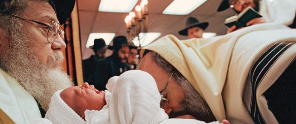 """Covenant of circumcision, also known as a bris, is a religious ceremony within Judaism to welcome infant Jewish boys into a covenant between God and the Children of Israel through ritual circumcision performed by a mohel (""""circumciser""""), on the eighth day being done in a Chabad Lubavitch in Crown Heights, Brooklyn, New York."""