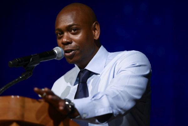 WASHINGTON, DC - JUNE 14:  Dave Chappelle speaks during The 2015 Duke Ellington School of the Arts Commencement Ceremony at Lisner Auditorium at George Washington University on June 14, 2015 in Washington, DC.  (Photo by Leigh Vogel/Getty Images)