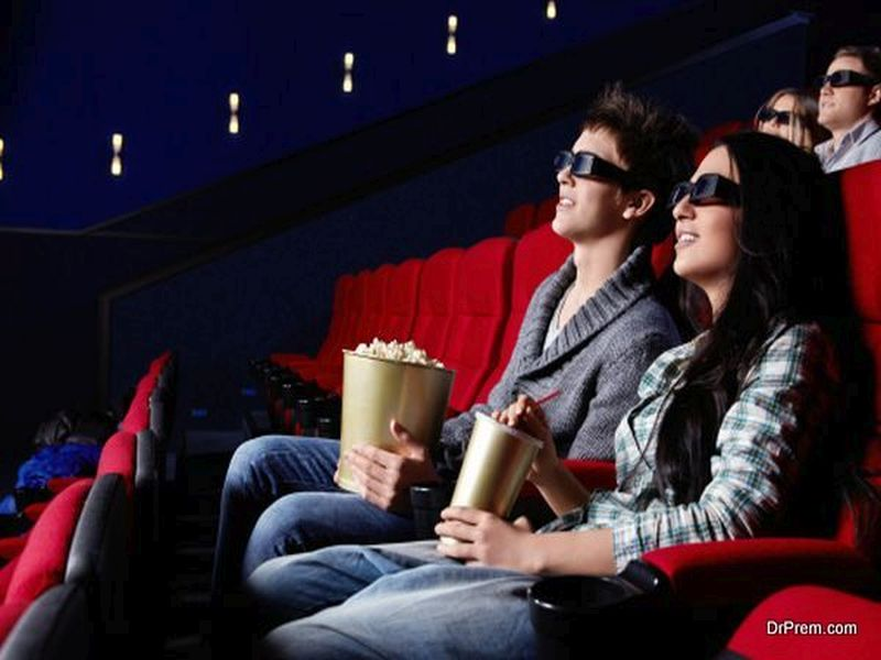People in the cinema on Valentine's Day