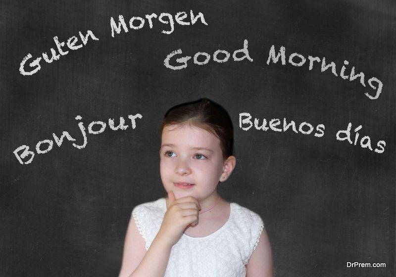 learning second language assists in brain development