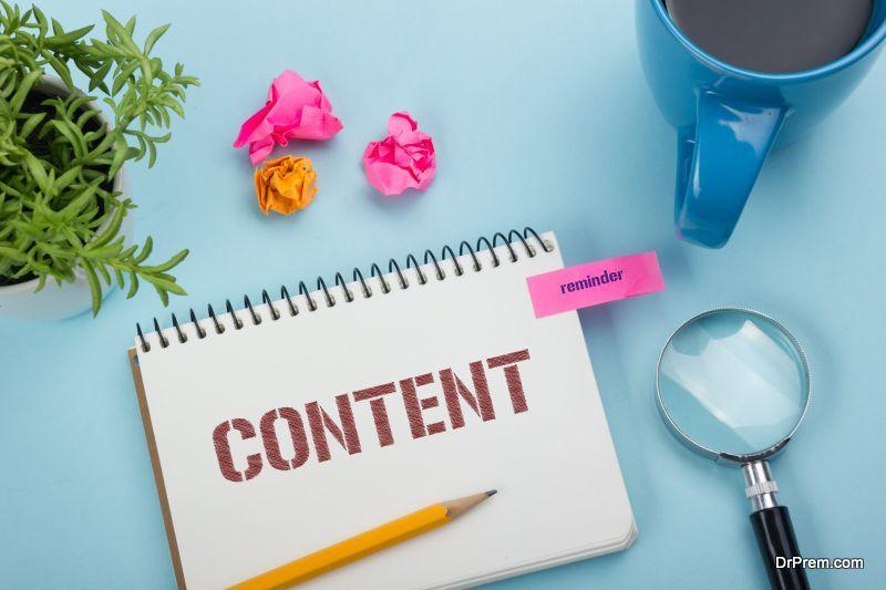Content, online concept