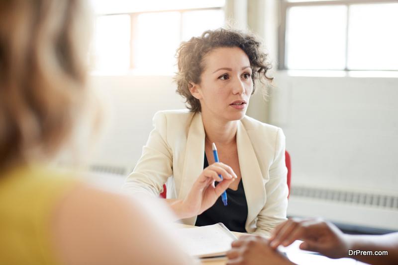 woman making decision