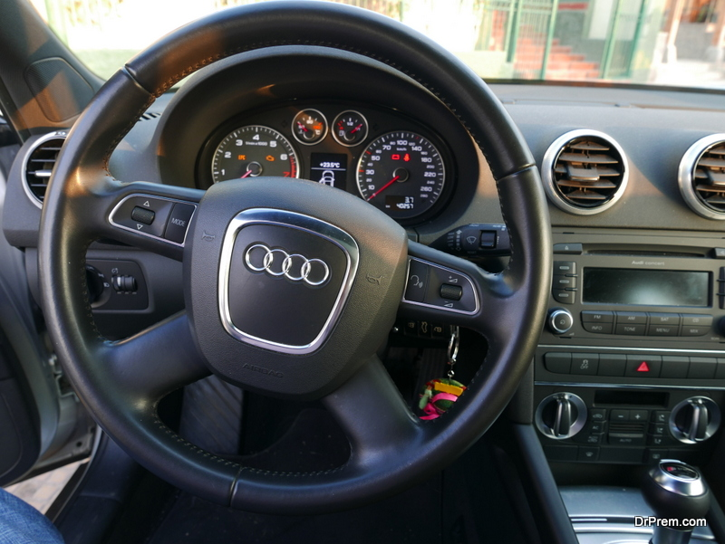 Driving an Audi