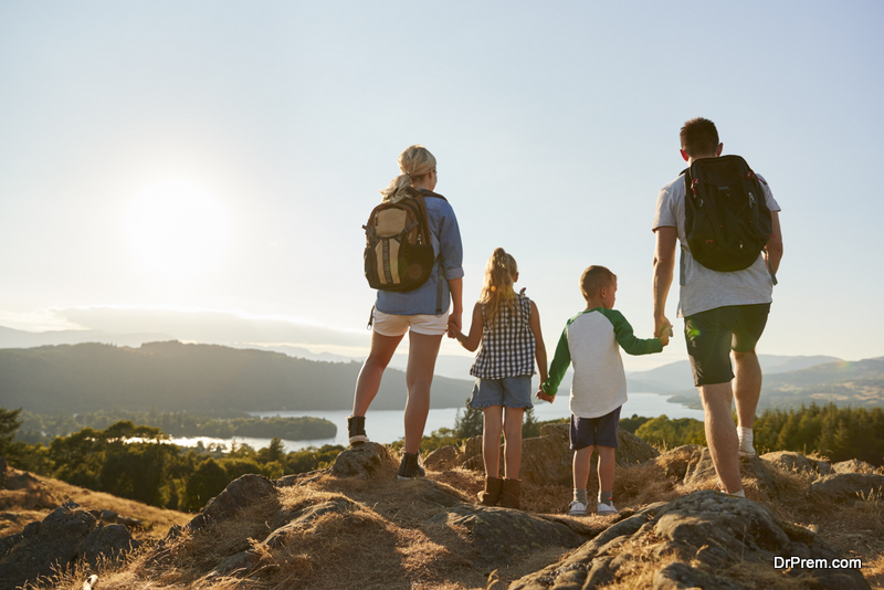 family on Nature Hike
