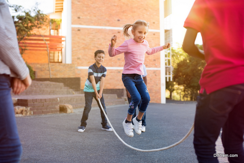 kids doing Physical activity
