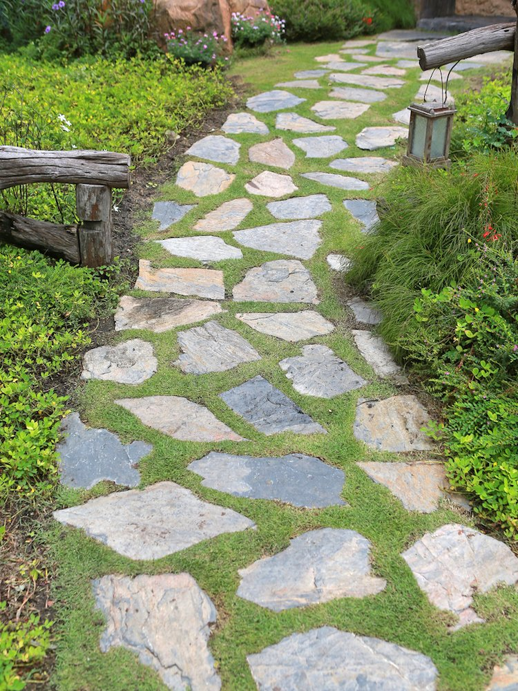 45 Home and Building Sidewalk/Walkway Design Ideas ... on Side Yard Walkway Ideas  id=41420