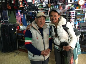 The very helpful sherpa family in Namche that we rented gear with.