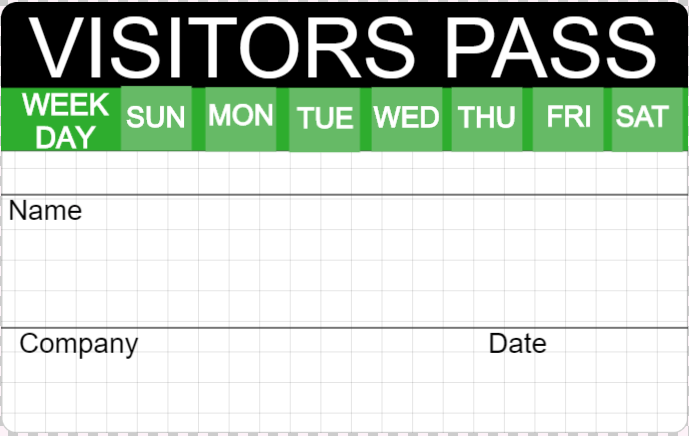 visitor badge template