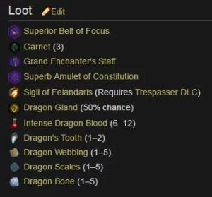 Fereldan Frostback Loot