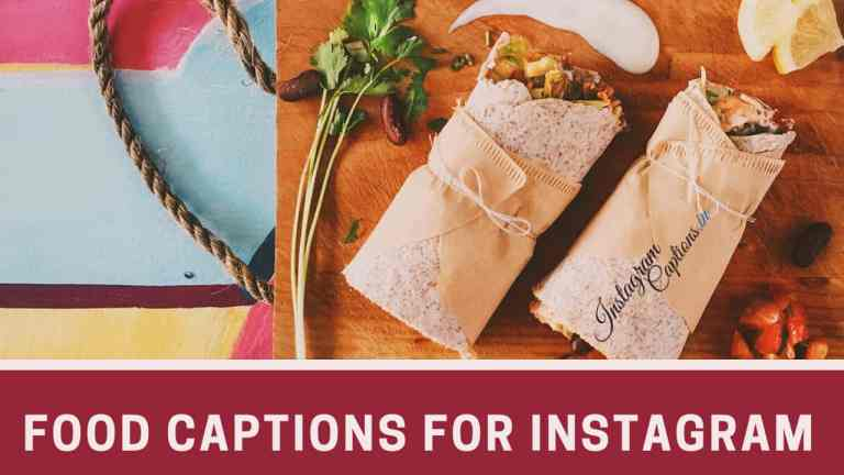 Food Captions for Instagram