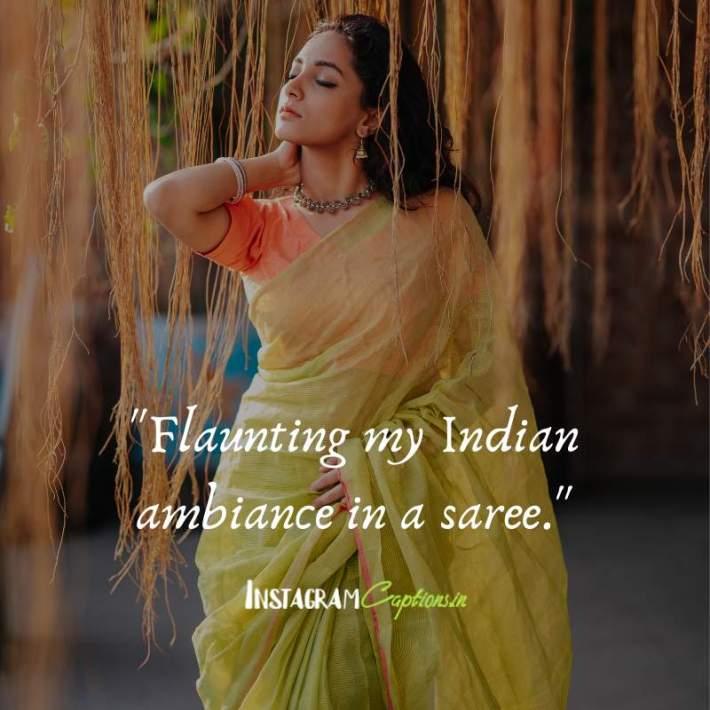 Saree Captions